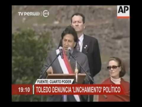 Alejandro Toledo denuncia 'linchamiento' político