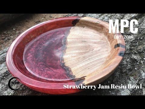 Strawberry Jam Resin Bowl