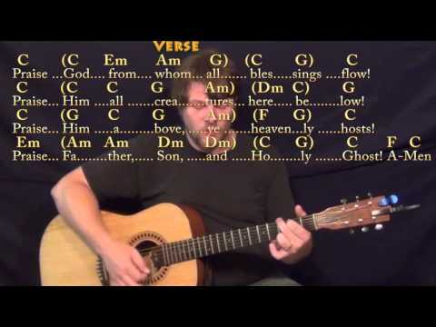 From Whom All Blessings Flow (Doxology) Strum Guitar Cover Lesson in C with Chords/Lyrics