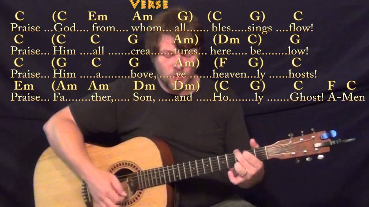 From Whom All Blessings Flow Doxology Strum Guitar Cover Lesson In