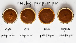 4 Healthy Pumpkin Pies