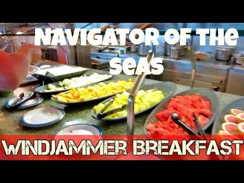 Royal Caribbean - Navigator of the Seas / Windjammer breakfast tour