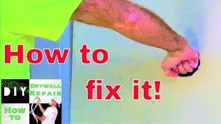 I was mad and punched the wall! How to repair hole in wall tutorial
