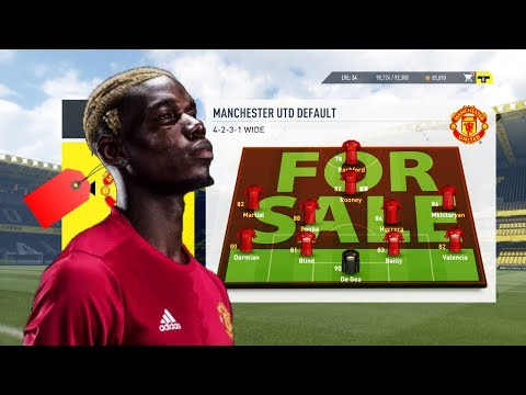 SELL THE WHOLE TEAM & REBUILD CHALLENGE W/ MAN UNITED -  FIFA 17 EXPERIMENT! ft. GardieFIFA