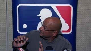 Francona has mishap in tight interview quarters
