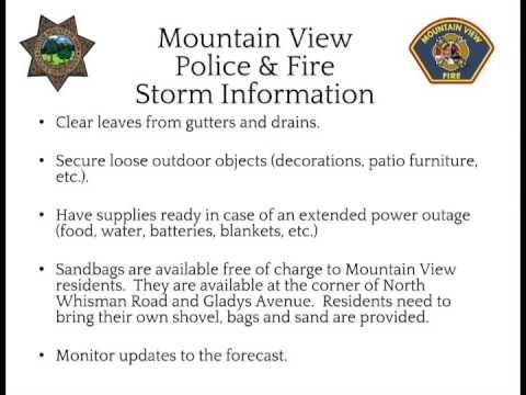 Mountain View Police and Fire Storm Information