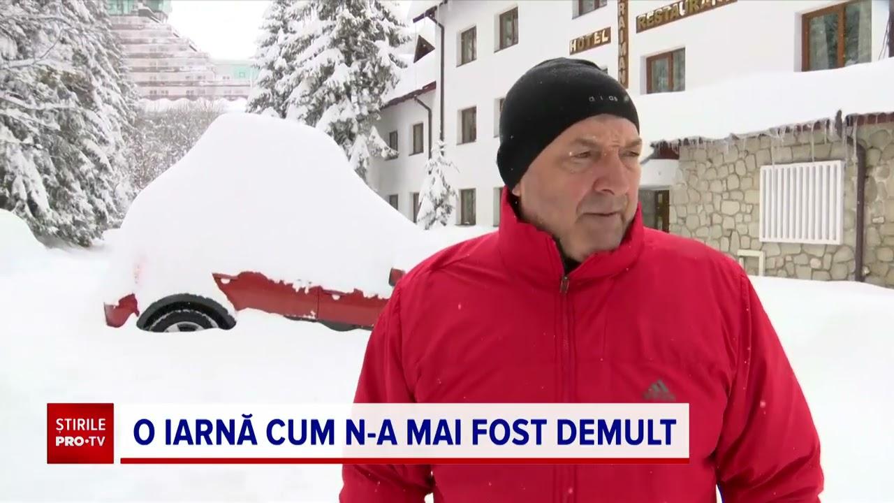 """Centrul țării, acoperit de zăpezi. """"În ultimii 30 de ani nu am mai văzut aşa ceva"""""""