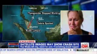 Wife of missing flight MH370 passenger: He