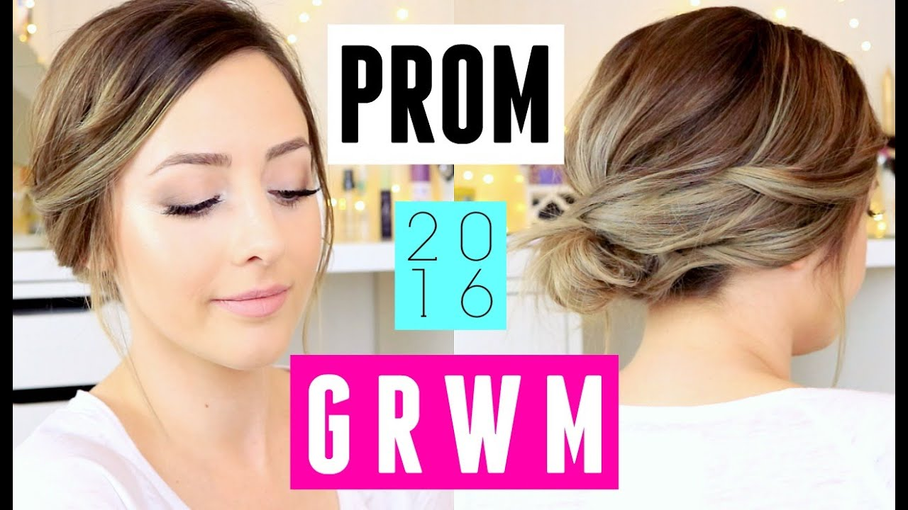 Get prom ready with me hair makeup dress - Prom 2016 Get Ready With Me Easy Makeup Hair Dress Ideas Youtube