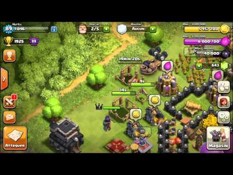 Clash Of Clan Passage à l'HDV 9 Ressources Max