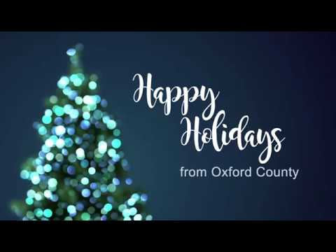 2017 Holiday Greeting from Oxford County