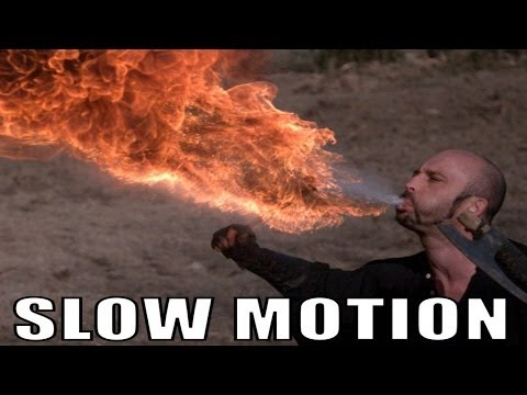 Fire Eater in Ultra Slow Motion