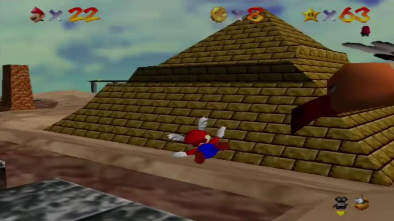 Super Mario 64 Wobiwaba Wüste Sammle Die 8 Roten Münzen Youtube