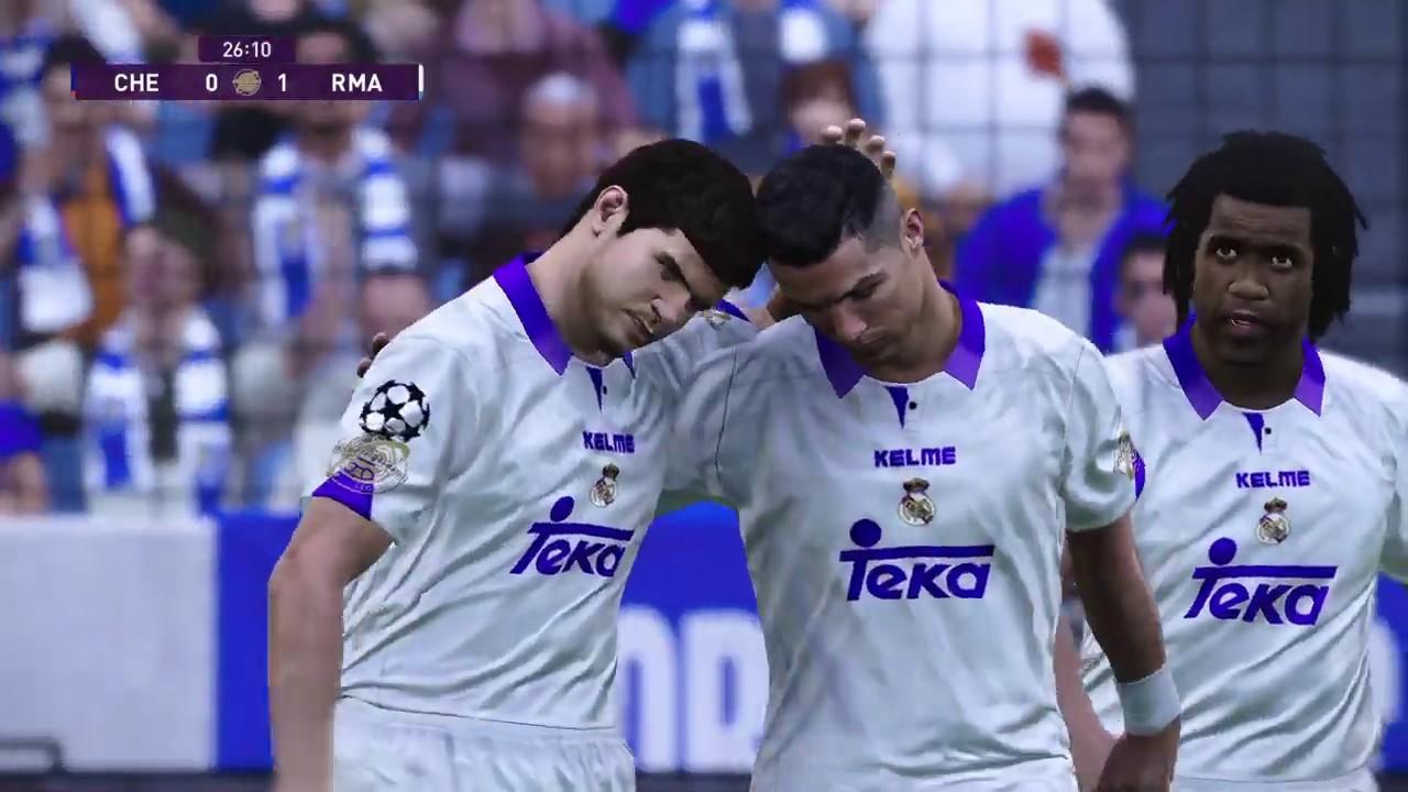 PES 2020 RETROFUTBOL | Super Liga Europea Chelsea vs Real ...