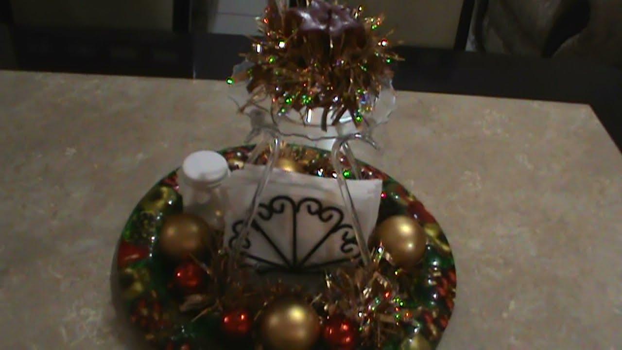 Centro de mesa navide o y funcional youtube - Youtube centros de mesa navidenos ...