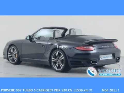 vodiff porsche occasion alsace porsche 997 turbo s cabriolet pdk 530 cv 11538 km mod. Black Bedroom Furniture Sets. Home Design Ideas