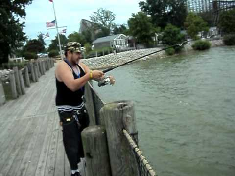 Fishing at cedar point youtube for Fishing report swansboro nc
