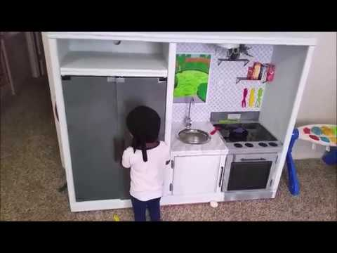 DIY Play Kitchen Made From Old Entertainment Center