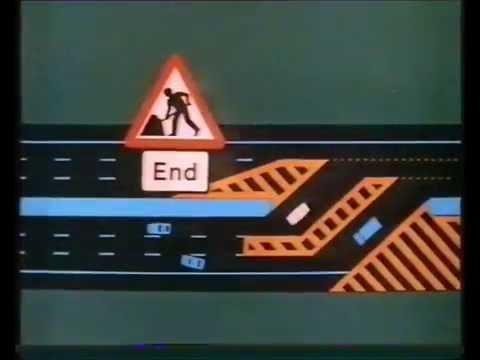 Motorway road works public information film (VHS Capture)