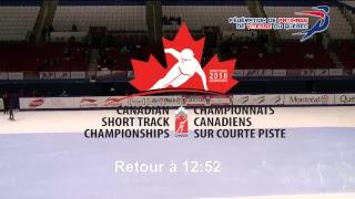 Championnats canadiens sur courte piste, 21 septembre 2018