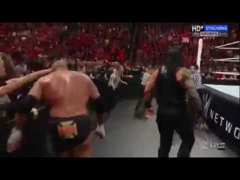 Roman Reigns RETURNS and attacks HHH WWE RAW 3 14 16