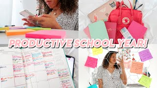 how to have a productive school year 2020 (back to school tips and tricks)