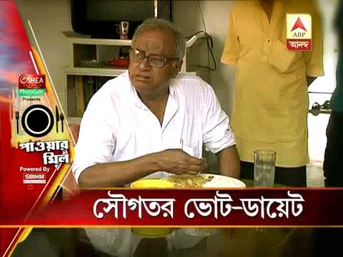 Sougata Roy's diet during campaign. He is conscious that he must be fit to continue campaigning.