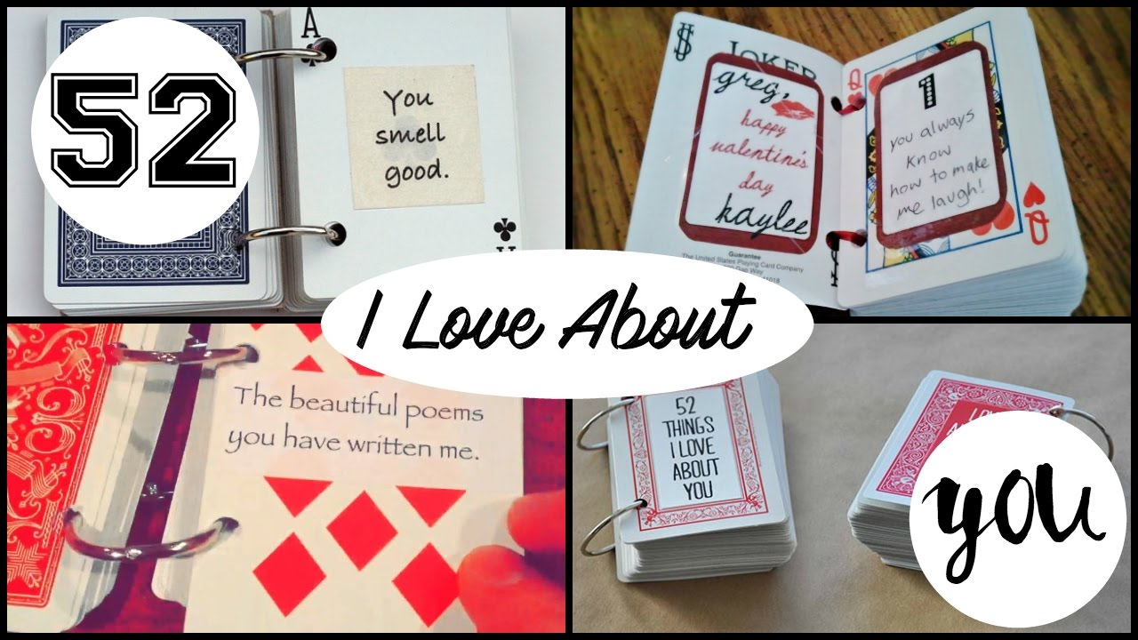 52 reasons why i love you cards templates free - diy 52 things i love about you youtube