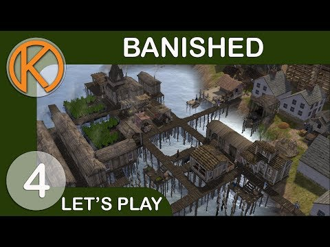 Banished Colonial Charter 1.75 Journey | WATER SHRINE - Ep. 4 | Let's Play Banished Gameplay