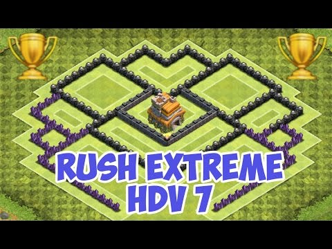 Village HDV 7 Rush Extrême - Clash of Clans