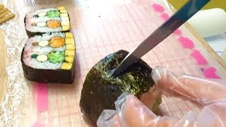 Amazing decorated SUSHI ROLL - Japanese Street Food