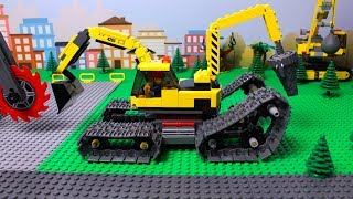 Download LEGO Excavator, Tractor, Dump Truck & Loader Construction Toy Vehicles for Kids Mp3 and Videos