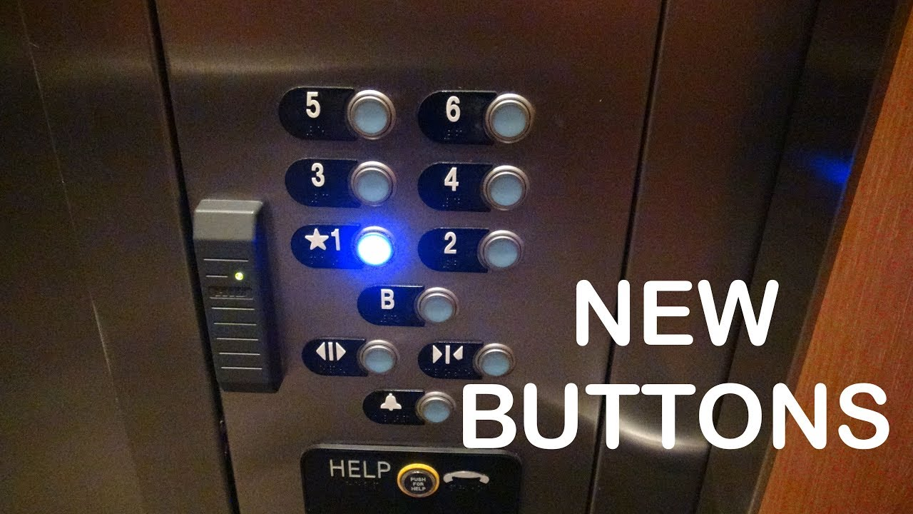 Thyssenkrupp Traction Elevator With New Prototype Buttons