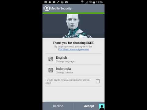 License premium eset nod32 mobile security work 100% easy and simple