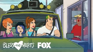 The Harts Hold Up The Drive-Thru  Season 1 Ep 2  BLESS THE HARTS