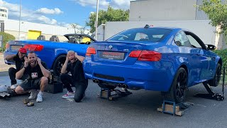 DOUBLE NEW EXHAUST! BMW E92 M3 DECAT \u0026 STOCK PIPE MOD
