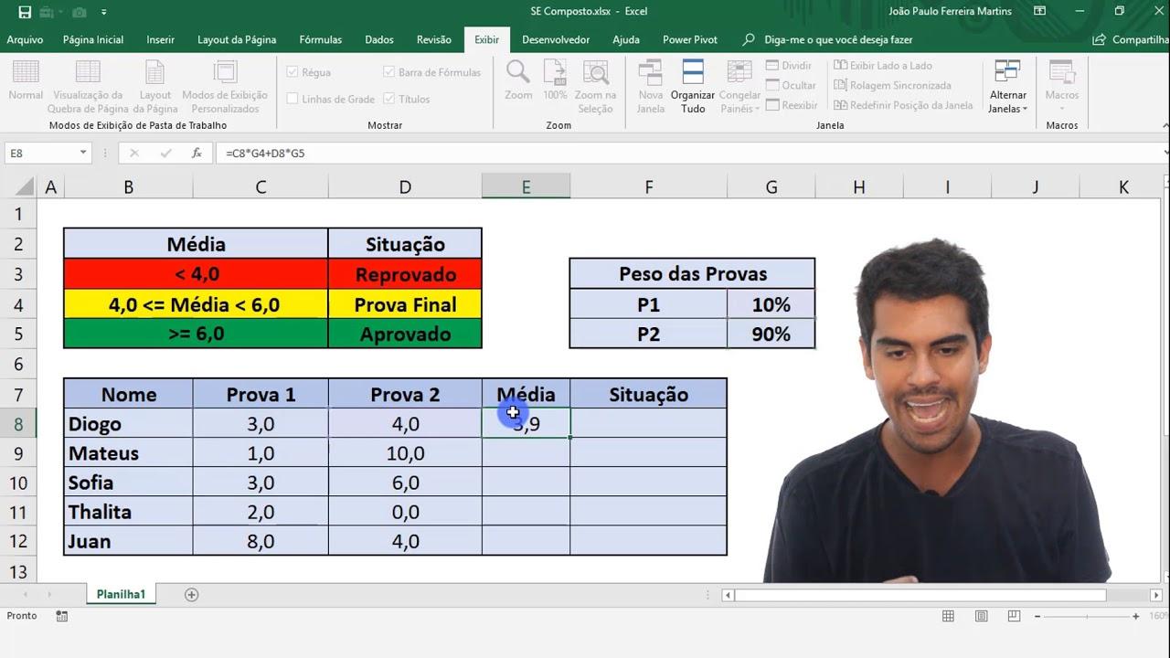 Travar Célula no Excel   Vídeo Completo