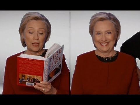 Download Hillary Clinton makes Grammys cameo to read Fire and Fury