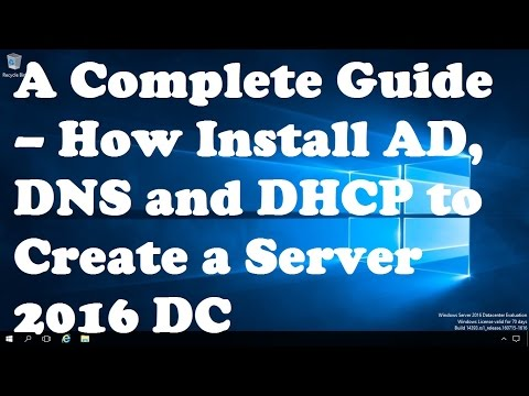 A Complete Guide – How Install Active Directory, DNS And DHCP To Create A Domain Controller