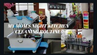 എന്റെ അമ്മയുടെ night kitchen cleaning ഒന്ന് കണ്ടാലോ?//night kichen cleaning routine malayam //