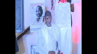Billionaire Femi Otedola Donate money @ Dele Momodu's Book launch
