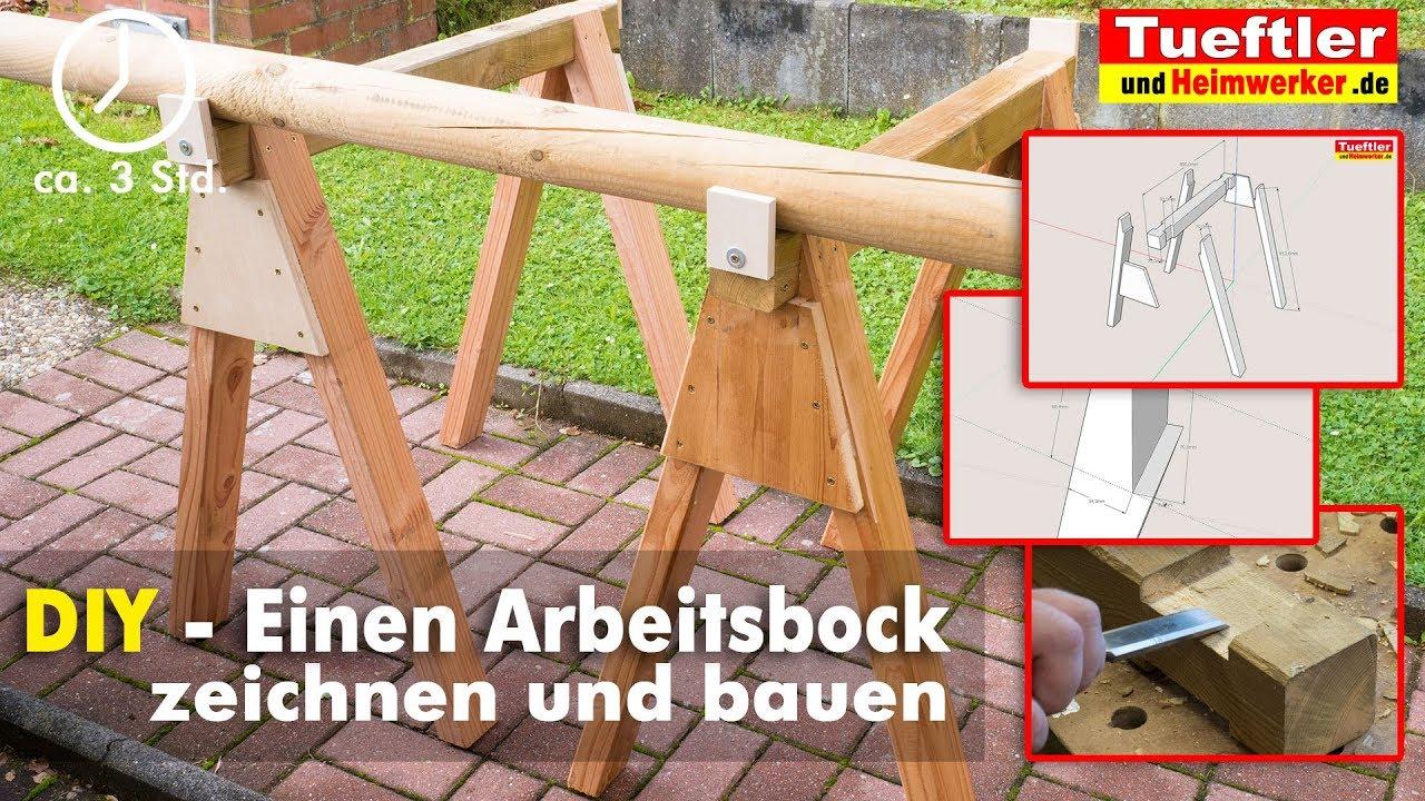 holzbock bzw. arbeitsbock schnell gebaut - tüftler diy - youtube