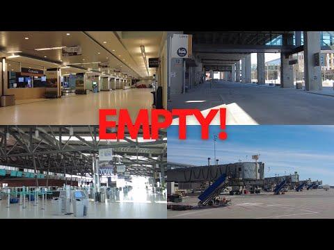 The sad state of YOW Ottawa International Airport in 2021 - Air Canada CRJ900 Take-off runway 25-07