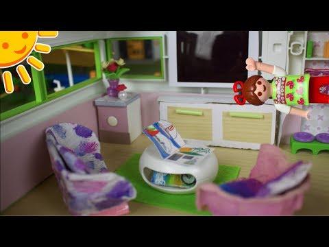 💛PLAYMOBIL Luxusvilla Frühlingsroomtour - pimp my PLAYMOBIL - Familie Sonnenschein - DIYs