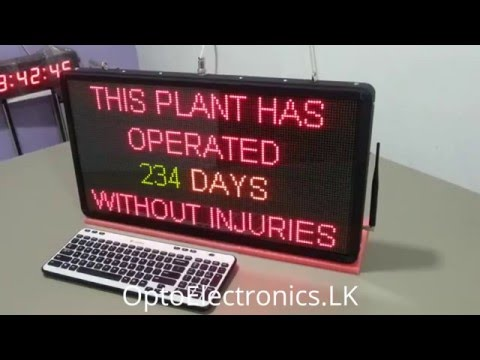 Industrial LED/LCD Wireless Information Display Systems
