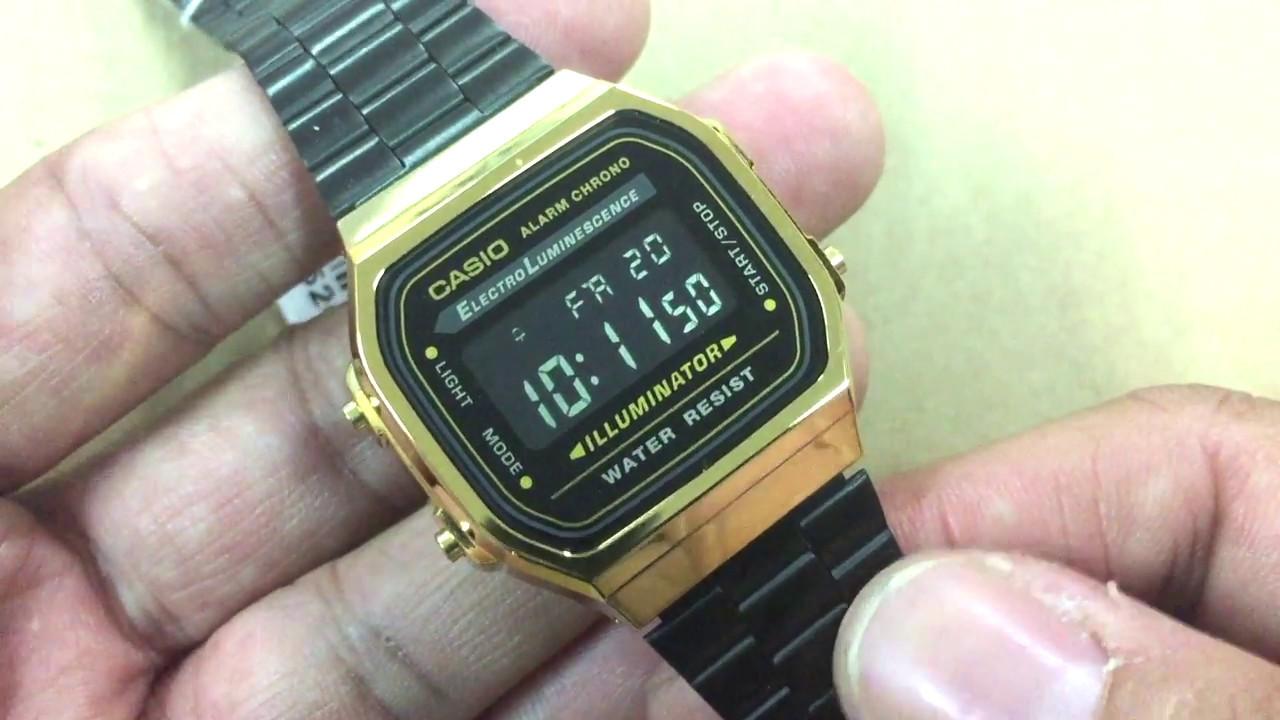 cabd1781a627 Review นาฬิกา Retro Vintage ที่สวยที่สุดในขณะนี้ Casio Digital Black ...