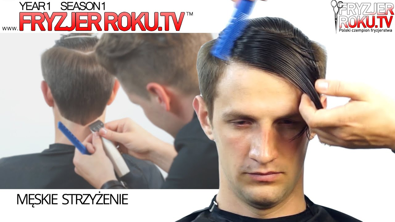 Klasyczna Męska Fryzura Z Przedziałkiem Classic Mens Haircut