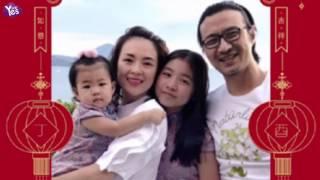 章子怡汪峰帶女兒拍全家福 醒醒小蘋果穿姐妹裝