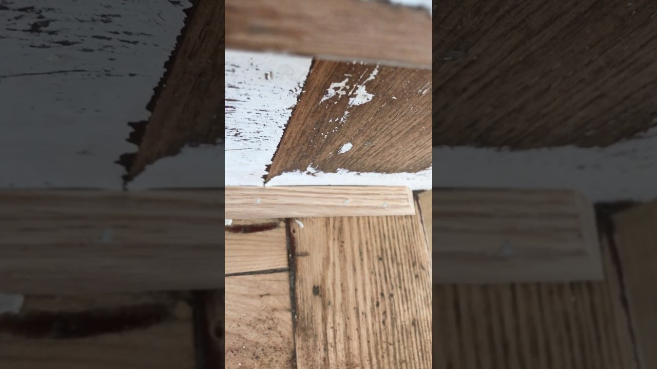Filling in nail holes with window glaze