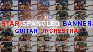 The U.S. National Anthem played on 25 electric guitars
